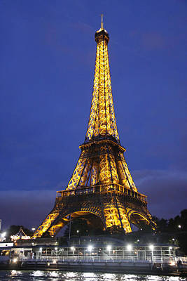 Photograph - Eiffel Tower At Night by Stan and Anne Foster