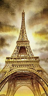 By Irina Painting - Eiffel Tower  by Irina Sztukowski