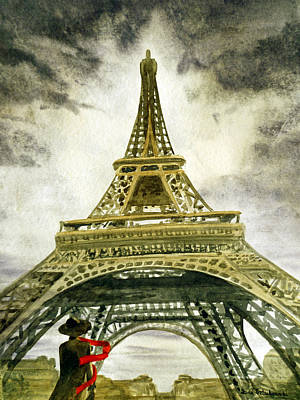 By Irina Painting - Eiffel Tower Paris by Irina Sztukowski