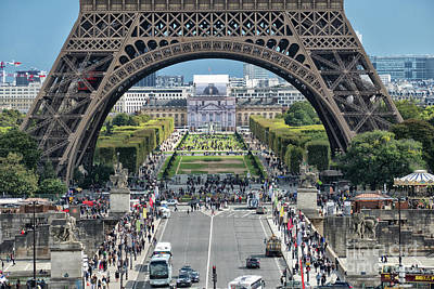 Photograph - Eiffel Tower Paris by Lynn Bolt