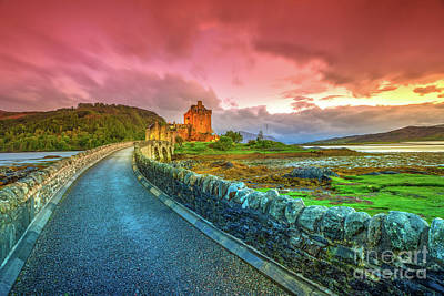 Photograph - Eilean Donan Sunset by Benny Marty