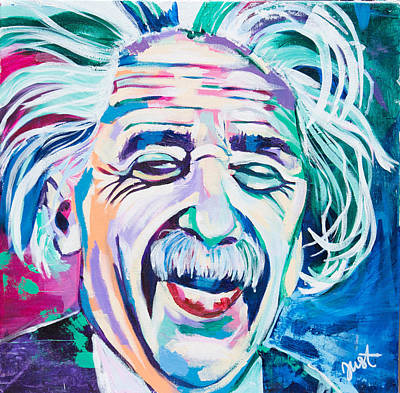 Painting - Einstein by Janice Westfall