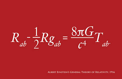 Typography Digital Art - Einstein Theory Of Relativity by Michael Tompsett