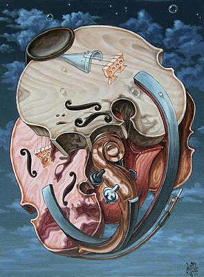 Painting - Einstein's Violin by Victor Molev
