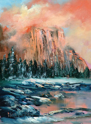 Yosemite Painting - El Capitan by Sally Seago