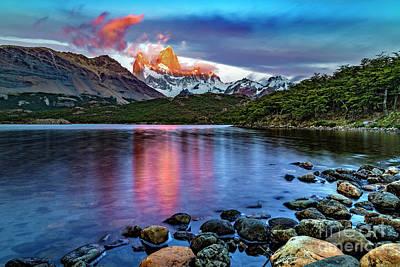Photograph - El Chalten At Sunrise II by Bernardo Galmarini