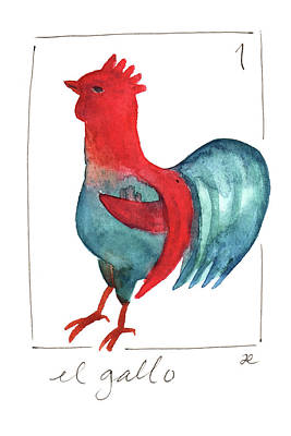Painting - 1 El Gallo by Anna Elkins