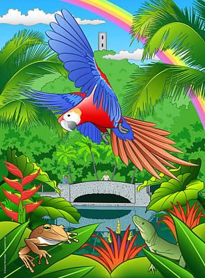 El Yunque Rain Forest  Art Print by Erasmo Hernandez