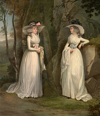 Painting - Eleanor And Margaret Ross by Alexander Nasmyth