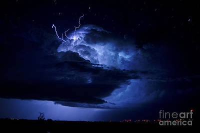 Photograph - Electric Blue by Ryan Smith