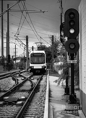 Photograph - Electric Commuter Train In Bw by Imagery by Charly