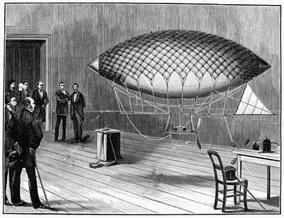 Electric Flying Machine Art Print by Granger