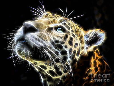 Cat Art Mixed Media - Electric Leopard Wall Art Collection by Marvin Blaine