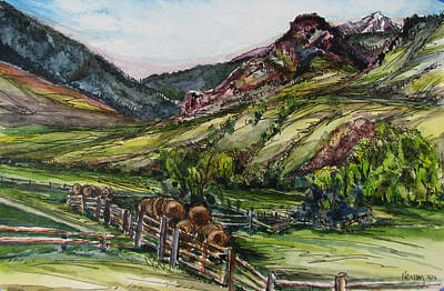 Painting - Electric Peak From Slip And Slide Ranch by Les Herman