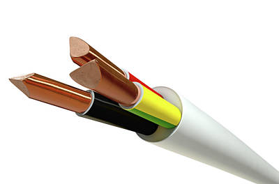 Wrap Digital Art - Electrical Cable by Allan Swart