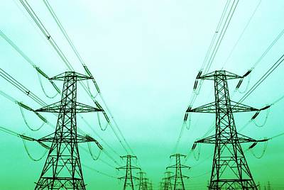 Electricity Pylons Art Print by Kevin Curtis