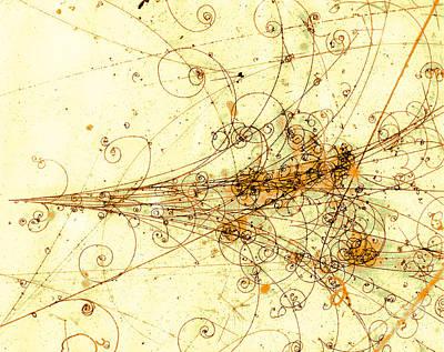 Photograph - Electron Positron Particle Shower by Spl