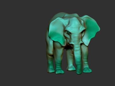 Digital Art - Elefant by Bogdan Floridana Oana