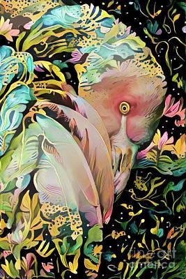 Bird Digital Art - Elegant Flamingo by Amy Cicconi