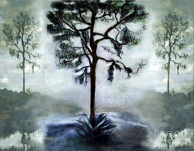 Digital Art - Elegy To A Tree by Laurel D Rund