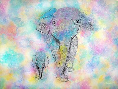Painting - Elephant Abstract by Anne Sands