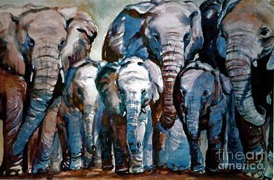 Elephant Family Art Print by Joyce A Guariglia