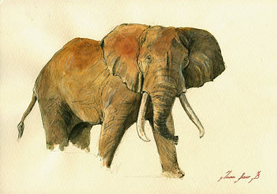 Elephant Painting        Original by Juan  Bosco