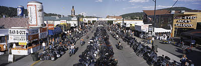 Large Group Of Objects Photograph - Elevated Panoramic View Of Main Street by Panoramic Images