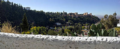 Alhambra Photograph - Elevated View Of Alhambra Palace by Panoramic Images
