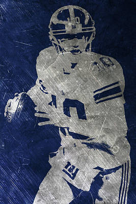 Painting - Eli Manning Giants by Joe Hamilton