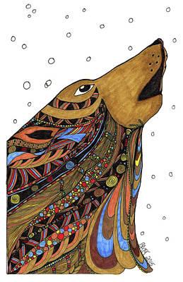 Drawing - Eli Wolf by Barbara McConoughey