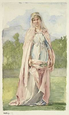 Elizabeth Of Hungary Art Print by John La Farge