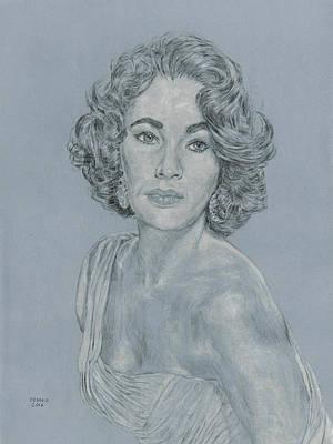 Elizabeth Taylor Drawing - Elizabeth Taylor by Dennis Larson