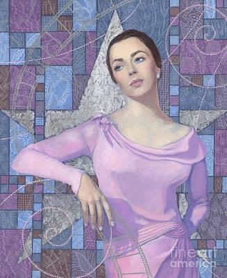 Artdeco Painting - Elizabeth Taylor by Julia Khoroshikh