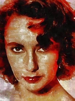 Elizabeth Taylor Painting - Elizabeth Taylor by Mary Bassett
