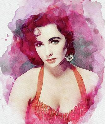 Actors Royalty-Free and Rights-Managed Images - Elizabeth Taylor, Vintage Actress by John Springfield