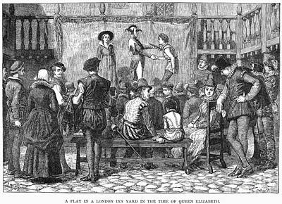 Elizabethan Theatre Art Print by Granger