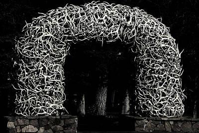 Elk Antlers Gate Jackson Hole Wy Print by Christine Till