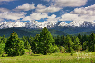 Photograph - Elkhon Mountain Range In Eastern Oregon by Bruce Block
