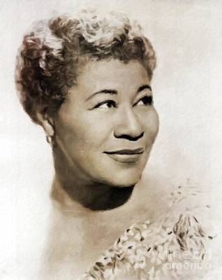 Jazz Royalty-Free and Rights-Managed Images - Ella Fitzgerald by Mary Bassett by Mary Bassett