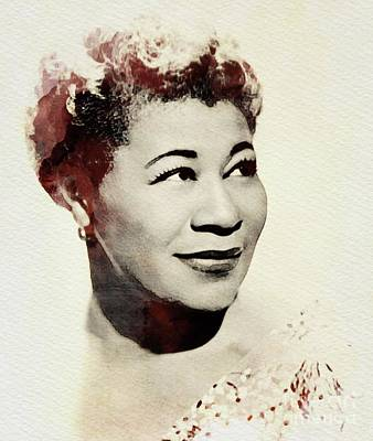 Jazz Royalty Free Images - Ella Fitzgerald, Music Legend Royalty-Free Image by John Springfield