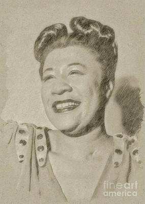 Singer Drawing - Ella Fitzgerald Singer by Frank Falcon