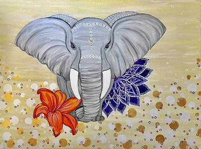 Animals Painting - Ellie by Art By Naturallic