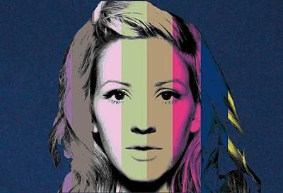 Ellie Digital Art - Ellie Goulding  by Chandler  Douglas