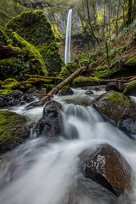Photograph - Columbia Gorge Elowah Falls Oregon by Rick Dunnuck