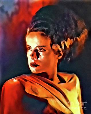 Frankenstein Digital Art - Elsa Lanchester As The Bride Of Frankenstein by Mary Bassett