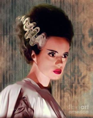 Musicians Royalty-Free and Rights-Managed Images - Elsa Lanchester, Bride of Frankenstein by Mary Bassett