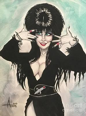 Painting - Elvira  by Jimmy Adams