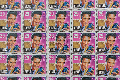 Elvis Commemorative Stamp January 8th 1993 Painted Art Print