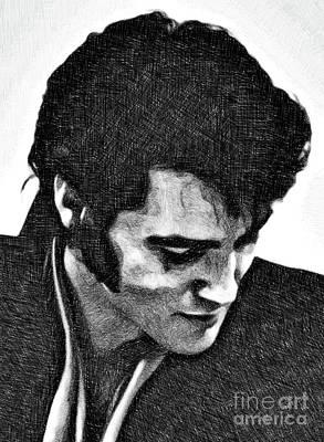 Elvis Presley Drawing - Elvis Presley By Js by John Springfield